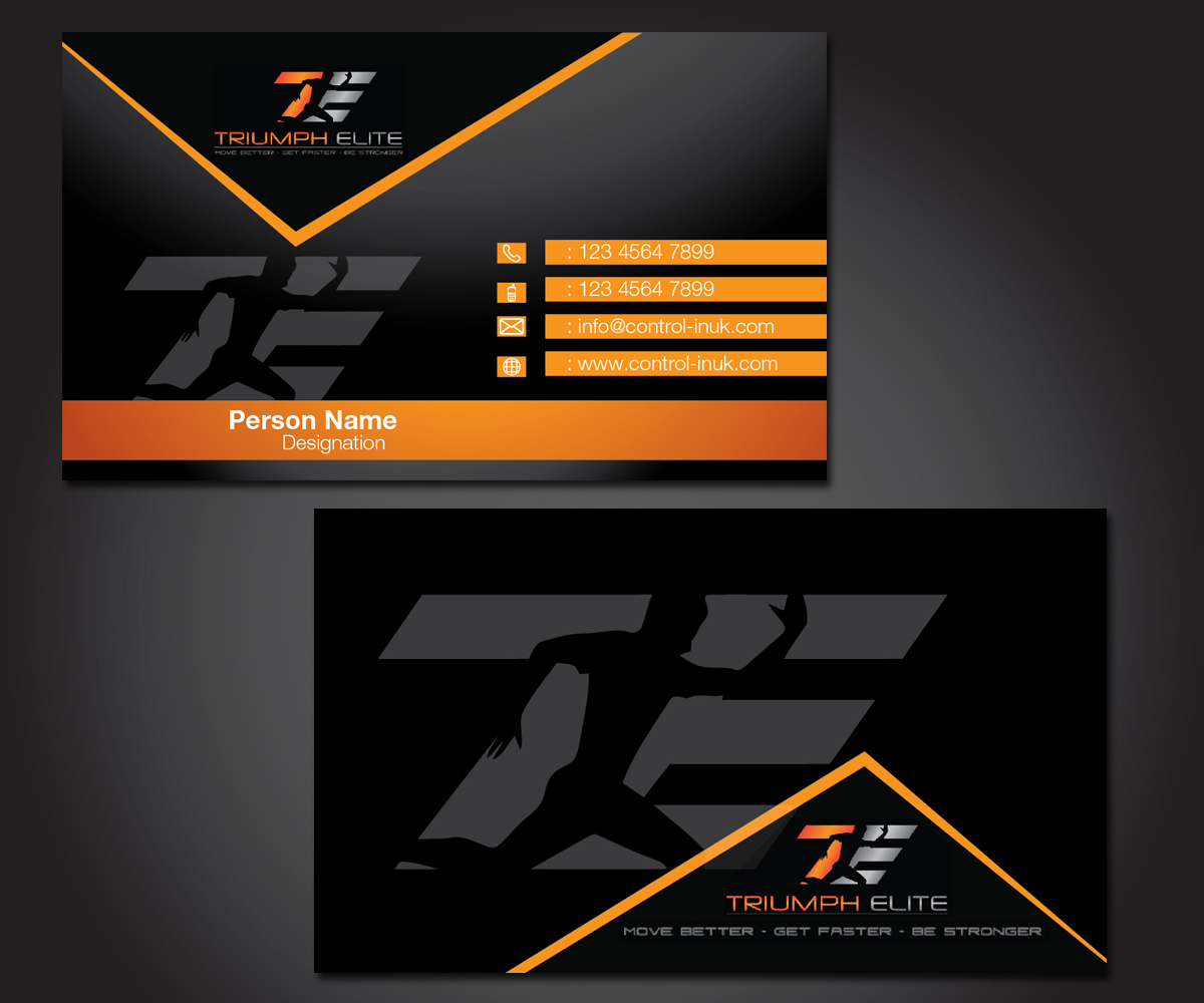Business business card design for triumph elite by esolbiz design business card design by esolbiz for triumph elite design 3450213 reheart Images