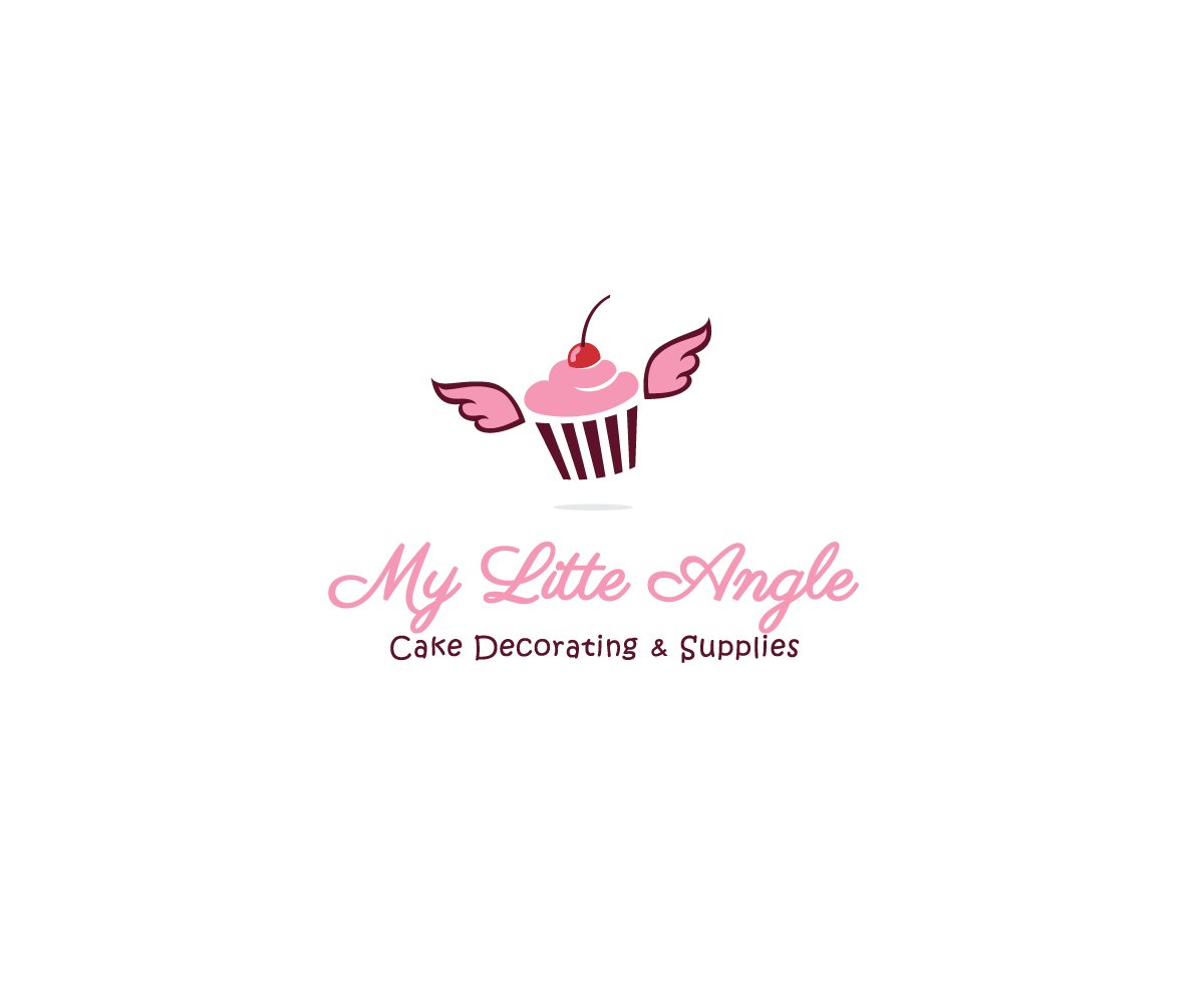 Elegant feminine logo design for my little angel cake Angel logo design