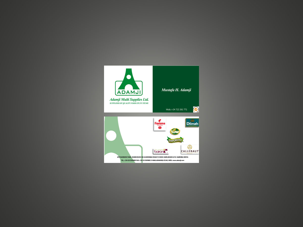 Modern, Professional, Business Business Card Design for adamji