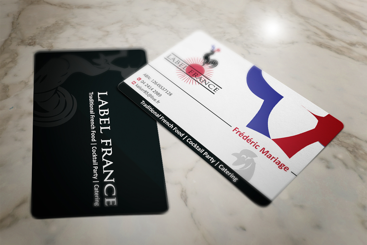 Elegant serious business card design for label france by mt business card design by mt for label france design 3502255 colourmoves Image collections