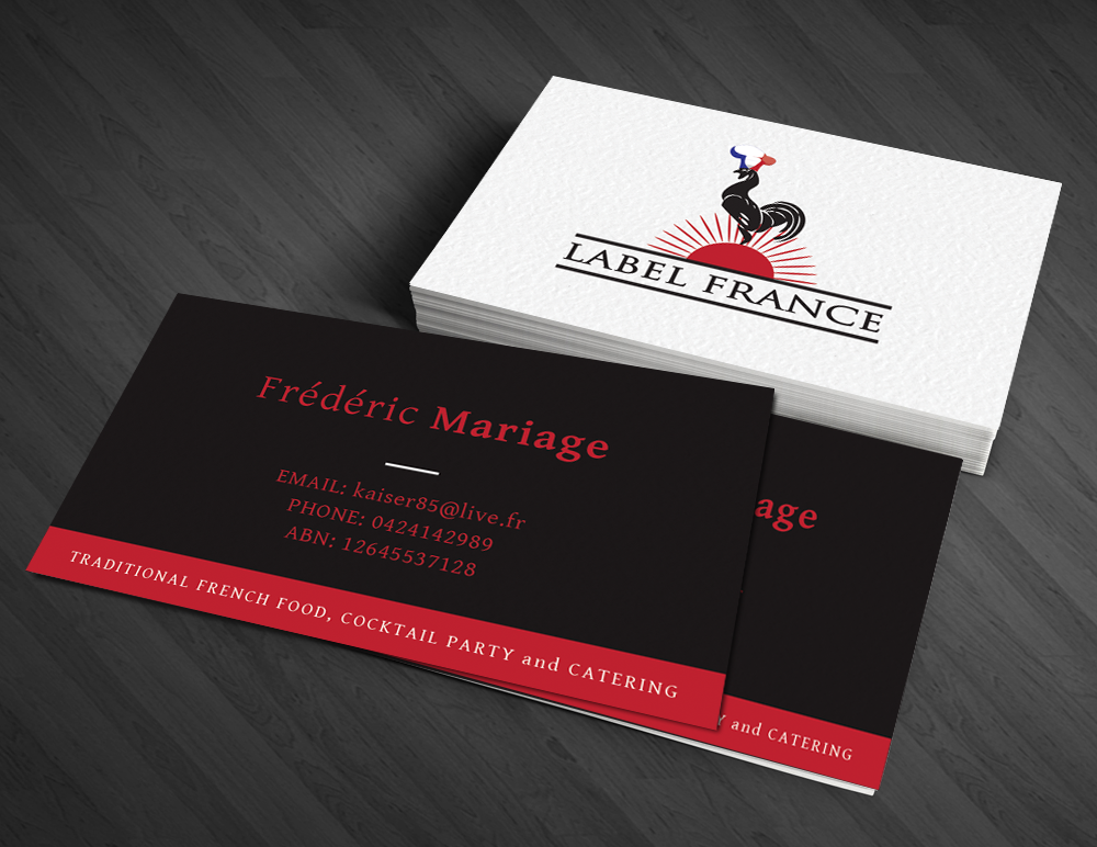 Elegant serious business card design for label france by artman business card design by artman for label france design 3507086 colourmoves Image collections
