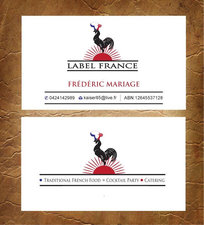 Elegant serious business card design for label france by sandy1155 business card design by sandy1155 for label france design 3474996 colourmoves