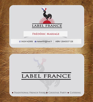 91 elegant business card designs catering business card design business card design by sandy1155 for label france design 3475019 colourmoves Image collections