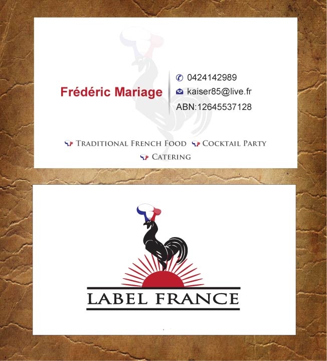 Elegant serious catering business card design for label france by business card design by sandy1155 for label france design 3475034 colourmoves