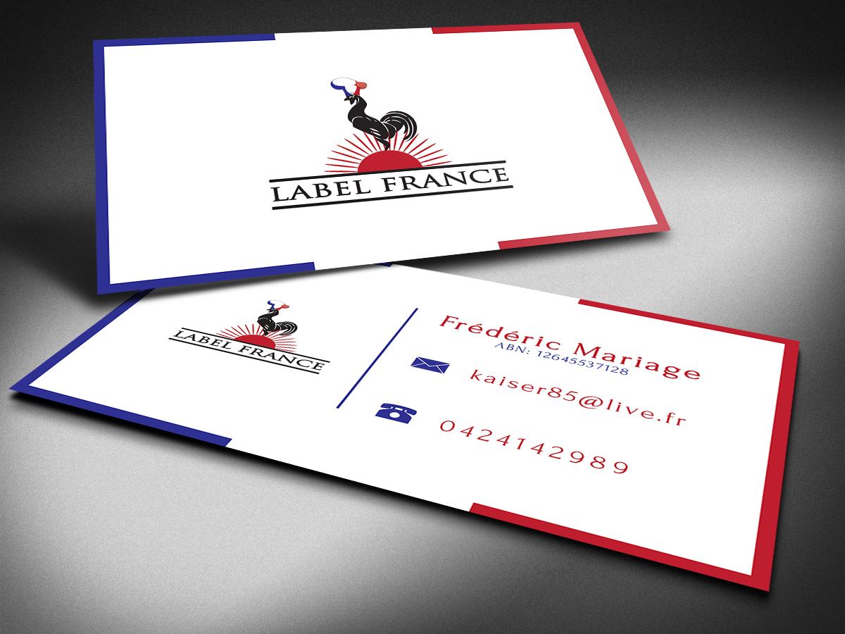 Elegant serious catering business card design for label france by business card design by graphical for label france design 3445027 colourmoves Image collections