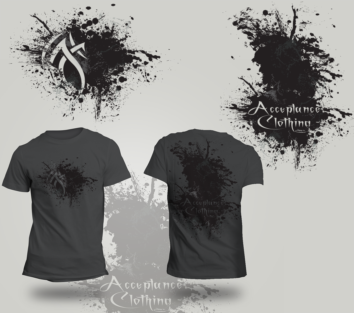 Clothing t shirt design for acceptance clothing by for Graphic edge t shirt design