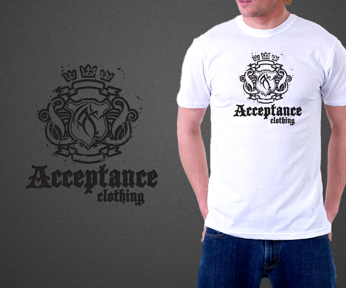T Shirt Design For Acceptance Clothing By Peter Graphics