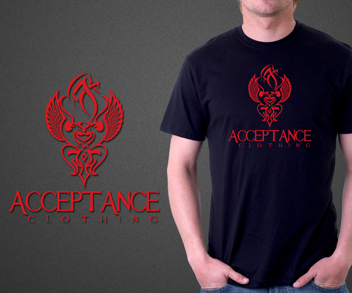 T shirt design for acceptance clothing by peter graphics for Graphic edge t shirt design