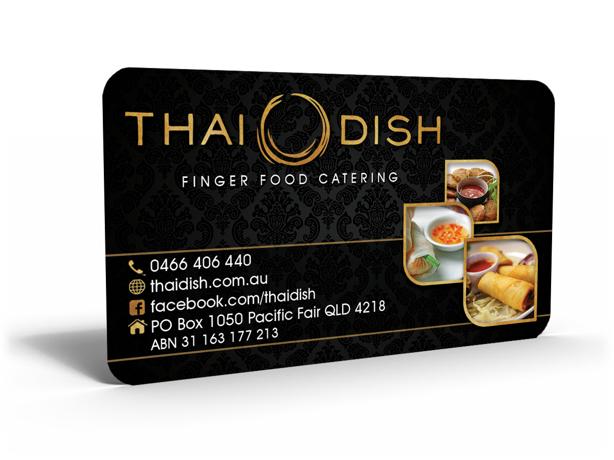 Business Card Design for Thai Dish by Hardcore Design ...