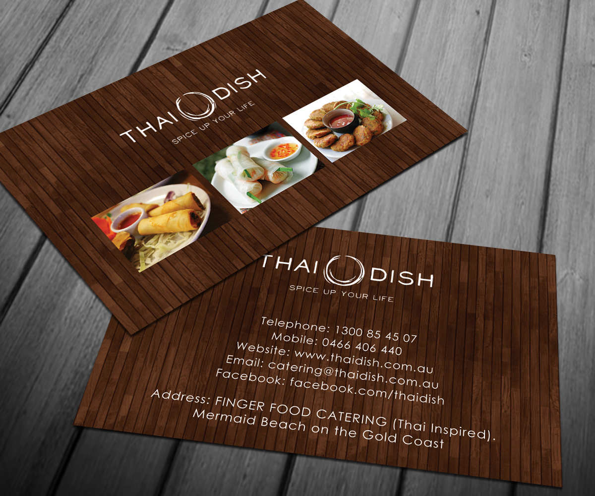 Business Card Design for Thai Dish by Smart Designs | Design #3449636