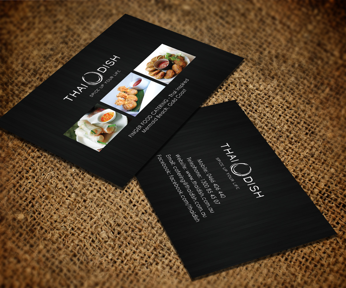 Catering business card design for thai dish by smart designs business card design by smart designs for thai dish design 3452656 reheart