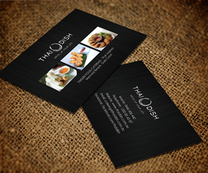 Catering Business Card Design For Thai Dish By