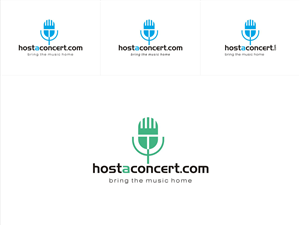 Logo Design by nandkumar - HOSTACONCERT.COM is about to launch globally an...