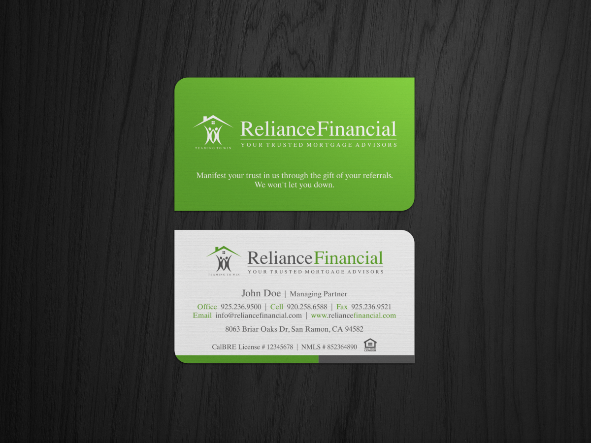 Stationery Design for Reliance Financial by HYPdesign | Design #3543973