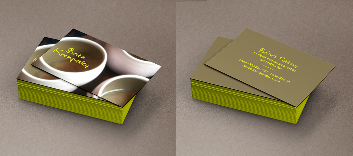 Modern bold business card design for britas ceramics britas business card design by pecas for britas ceramic business cards ideas design 3514898 reheart Gallery