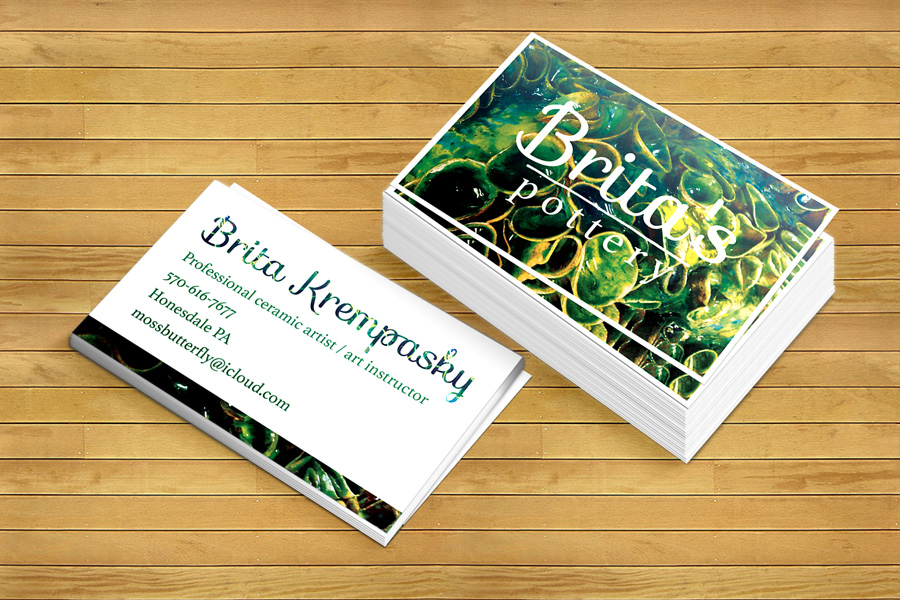 Modern, Bold Business Card Design for Brita\'s Ceramics /Brita\'s ...