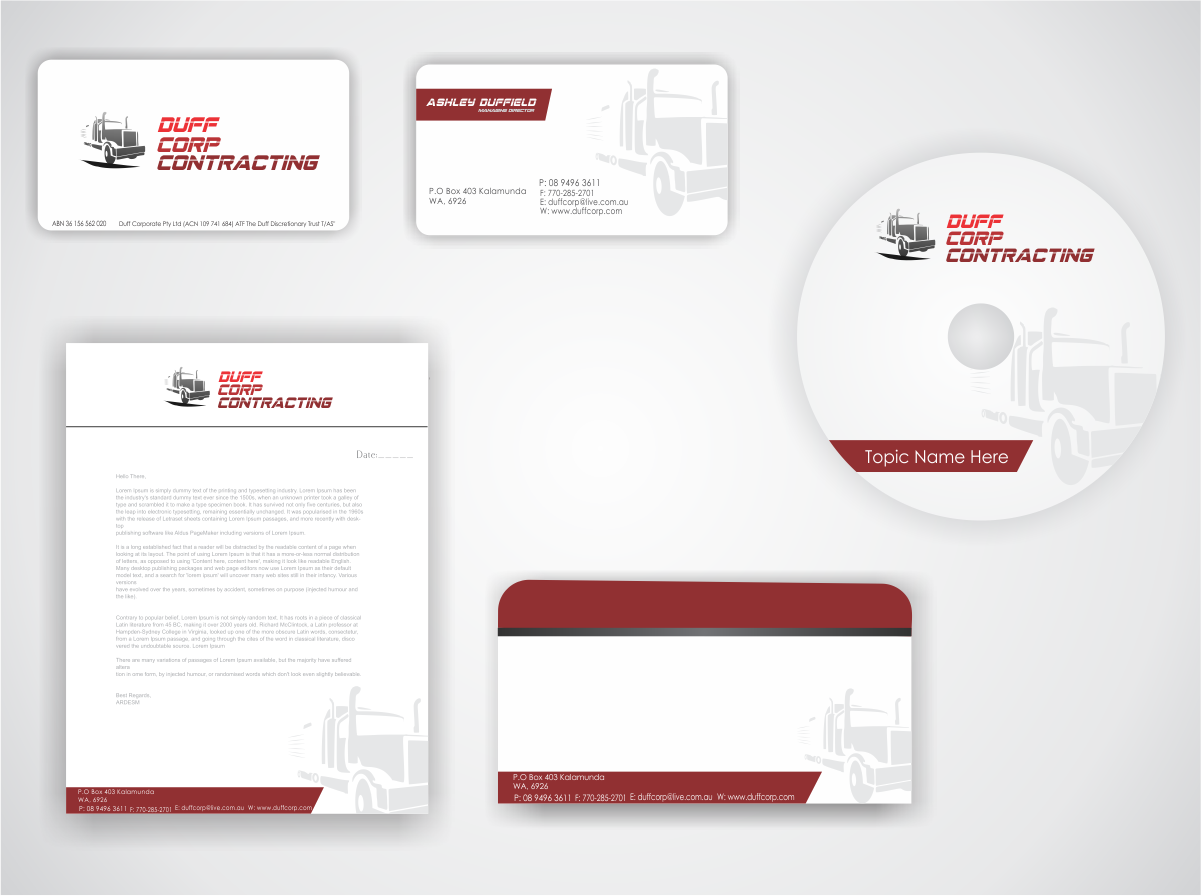 stationery design by naavyd for this project design 856789