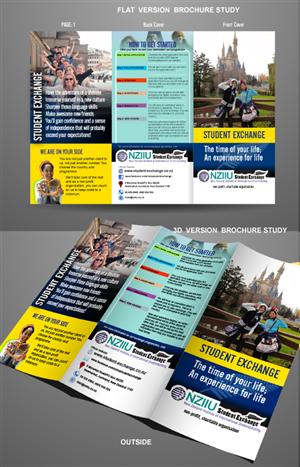 Brochure Design by designgreen - NZIIU Student Exchange needs a brochure design