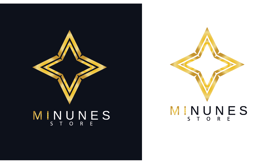Golden Star logo for a Store by shirlei patricia muniz