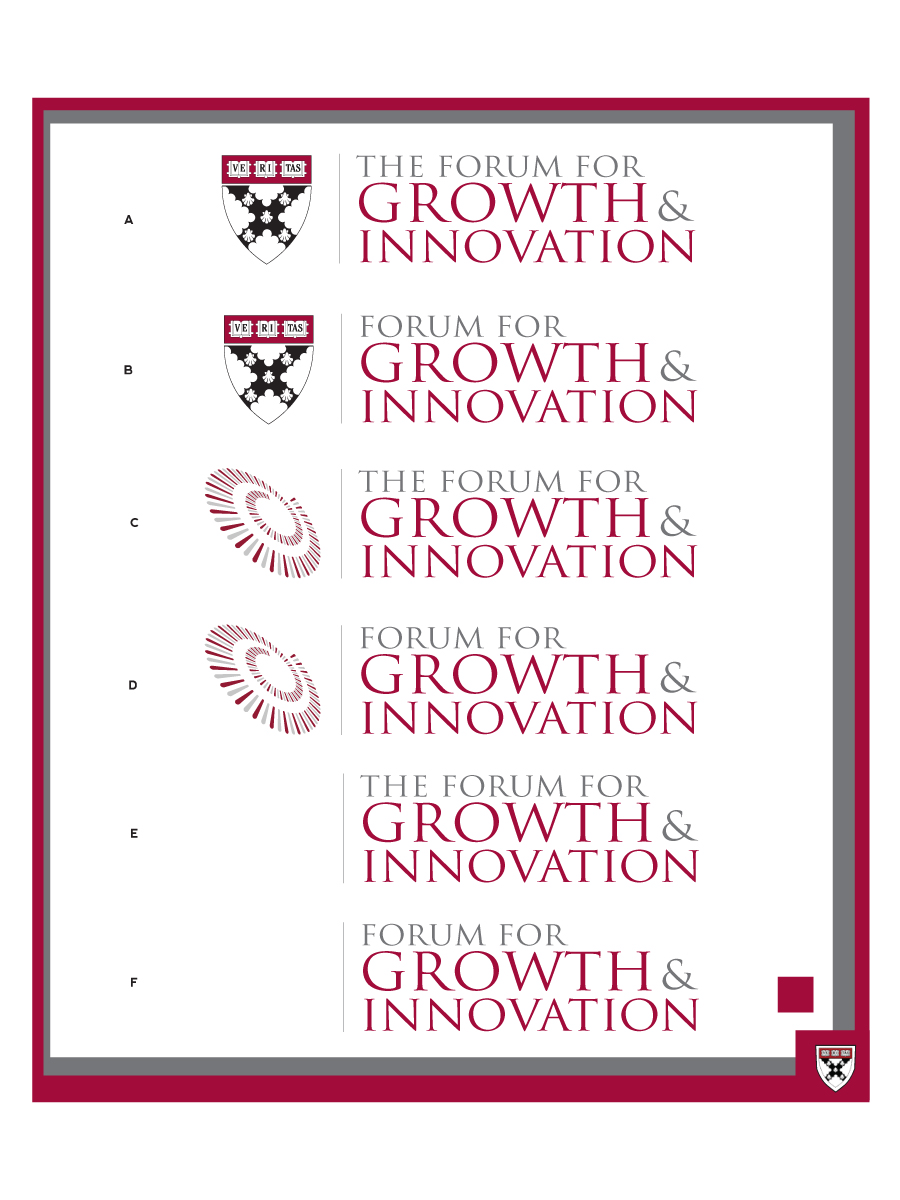 Logo Design by WAkland for Innovation and Growth Research Center at Harvard Business School - Design #99363