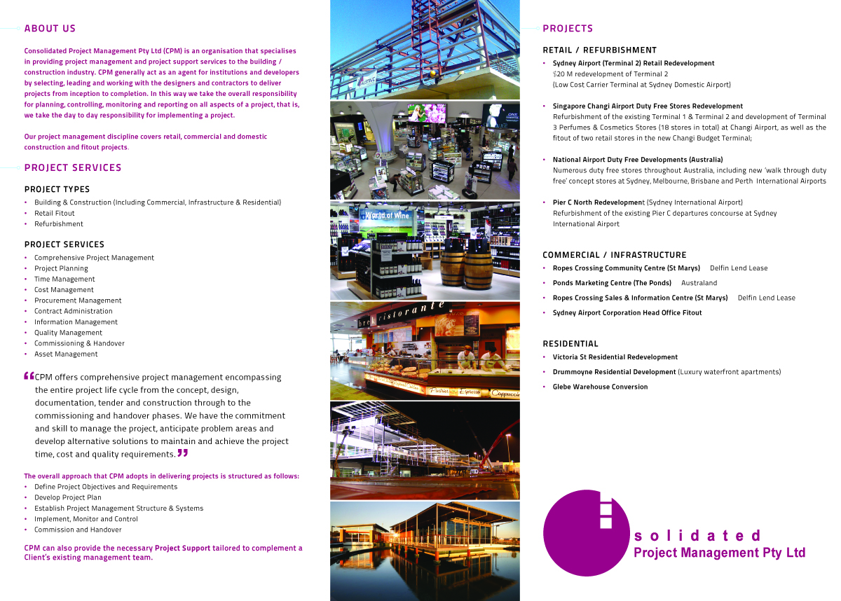 Upmarket, Modern, Management Consulting Brochure Design for