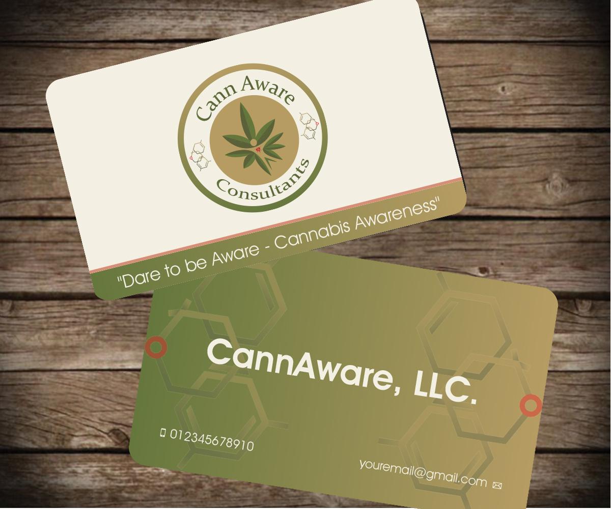 Design De Carte Visite Par Aaron Pour CannAware LLC