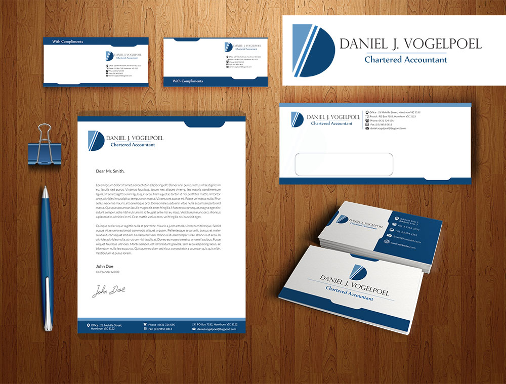 serious  professional  business letterhead design for
