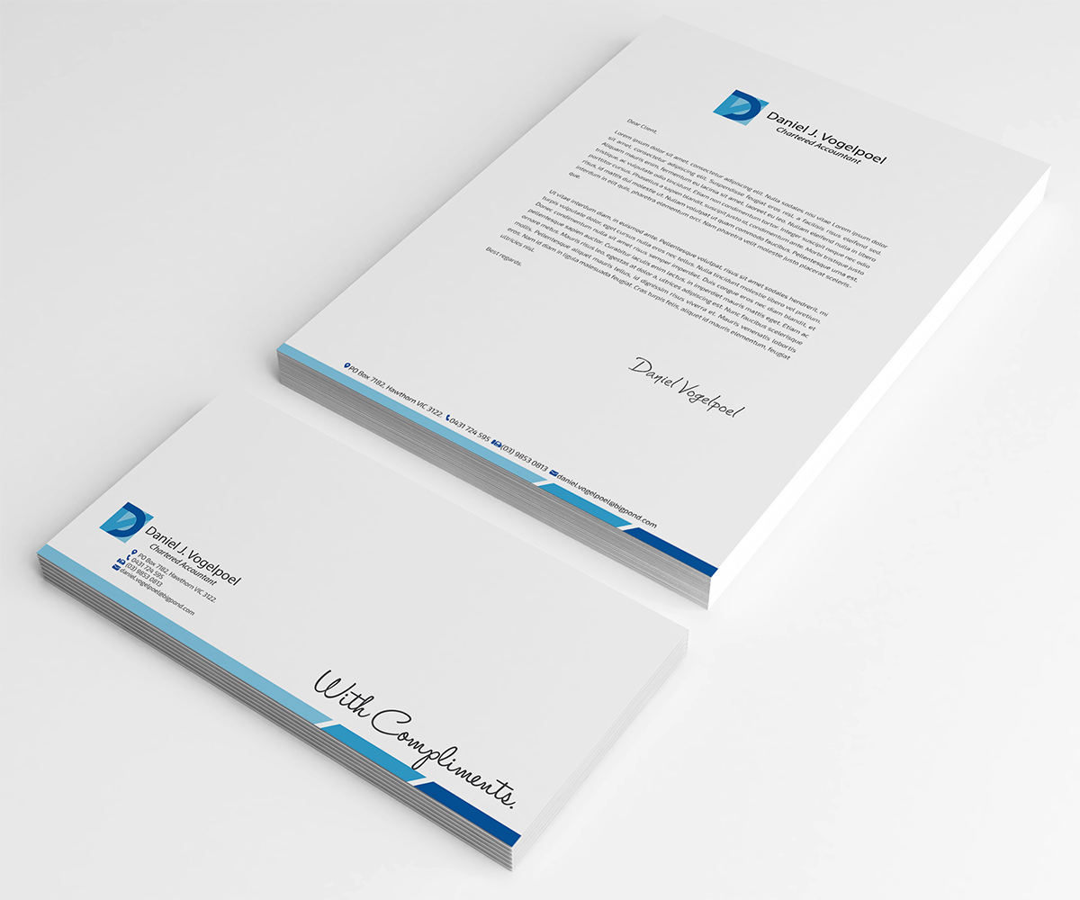 Serious, Professional Letterhead Design for Daniel J. Vogelpoel ...