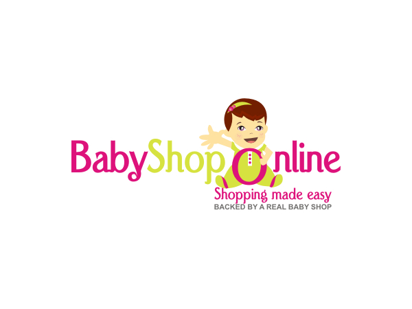 baby logo design for babyshop online shopping made easy backed by a real baby shop by zadaku. Black Bedroom Furniture Sets. Home Design Ideas