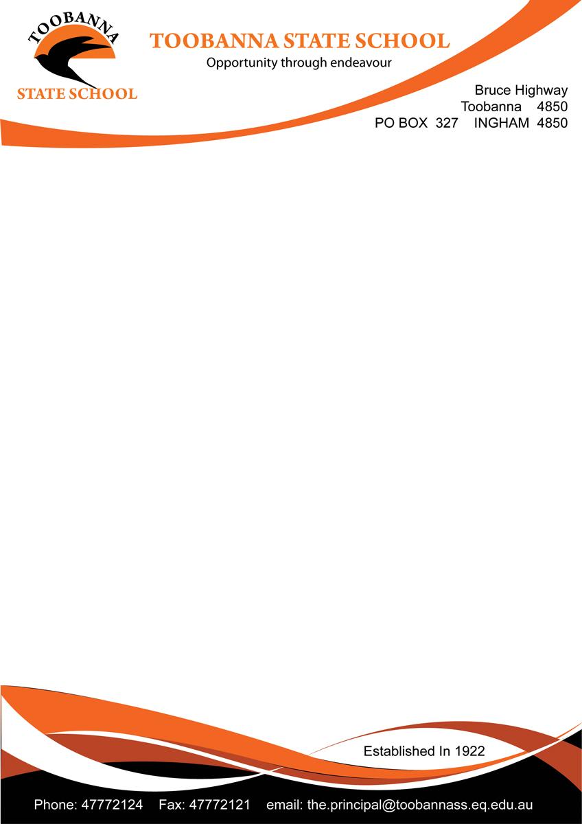 Modern feminine school letterhead design for toobanna state school letterhead design by niks4492 for toobanna state school design 3474539 spiritdancerdesigns Images