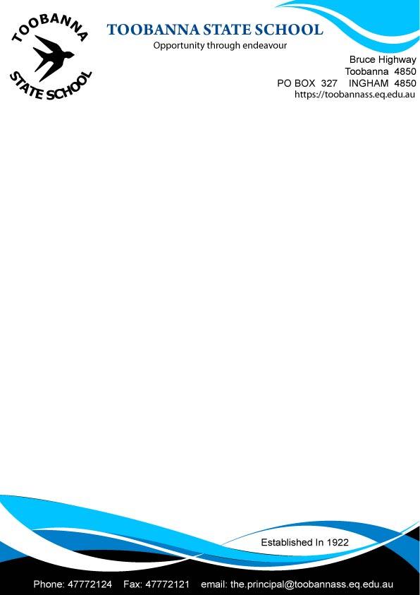 Modern, Feminine Letterhead Design for Toobanna State