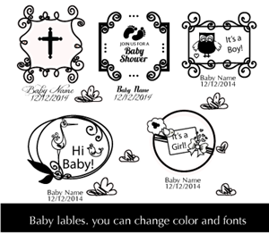 Graphic Design by schk - Baby Themed Graphics for screened glassware items
