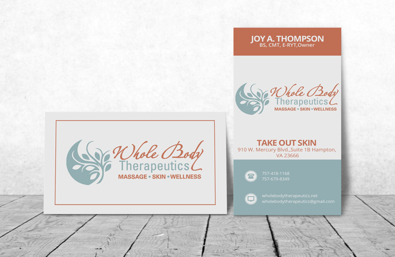 Design De Carte Visite Massage Pour Whole Body