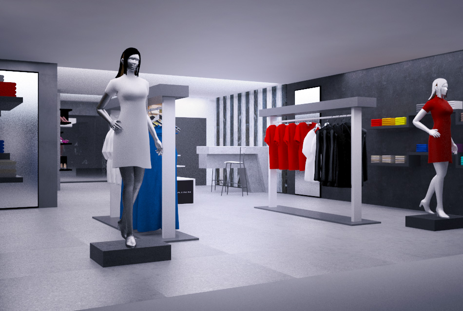 3D Design by Creative Shots Studio for Store layout for fashion store -  Design #3493576