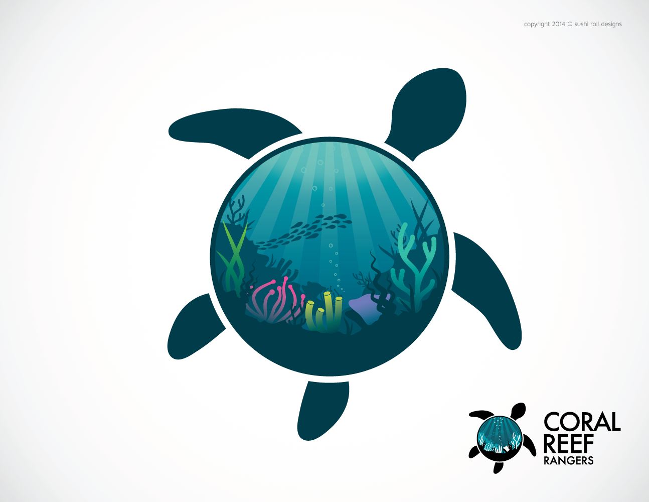 graphic design logo design for coral reef rangers by sushi