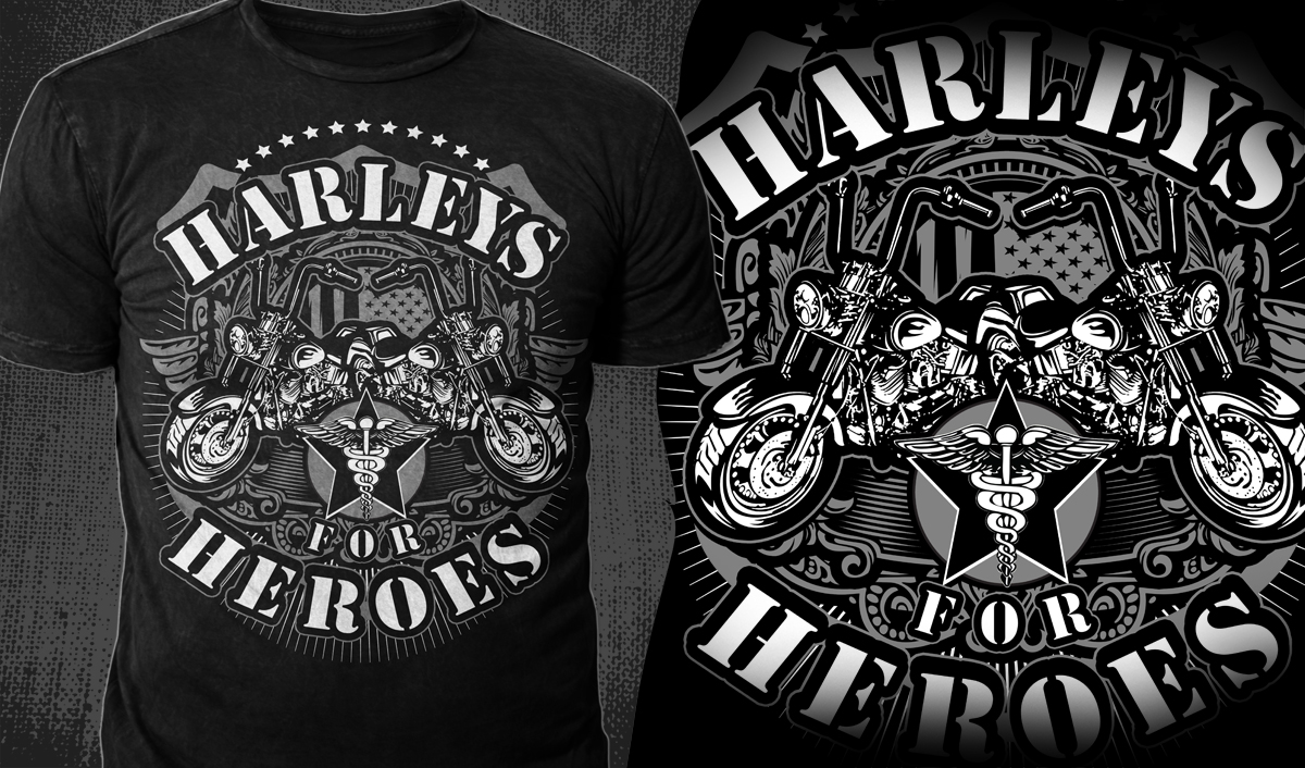 Design t shirt artwork - T Shirt Design By Mayonpx Com For Military Motorcycle Designs Design