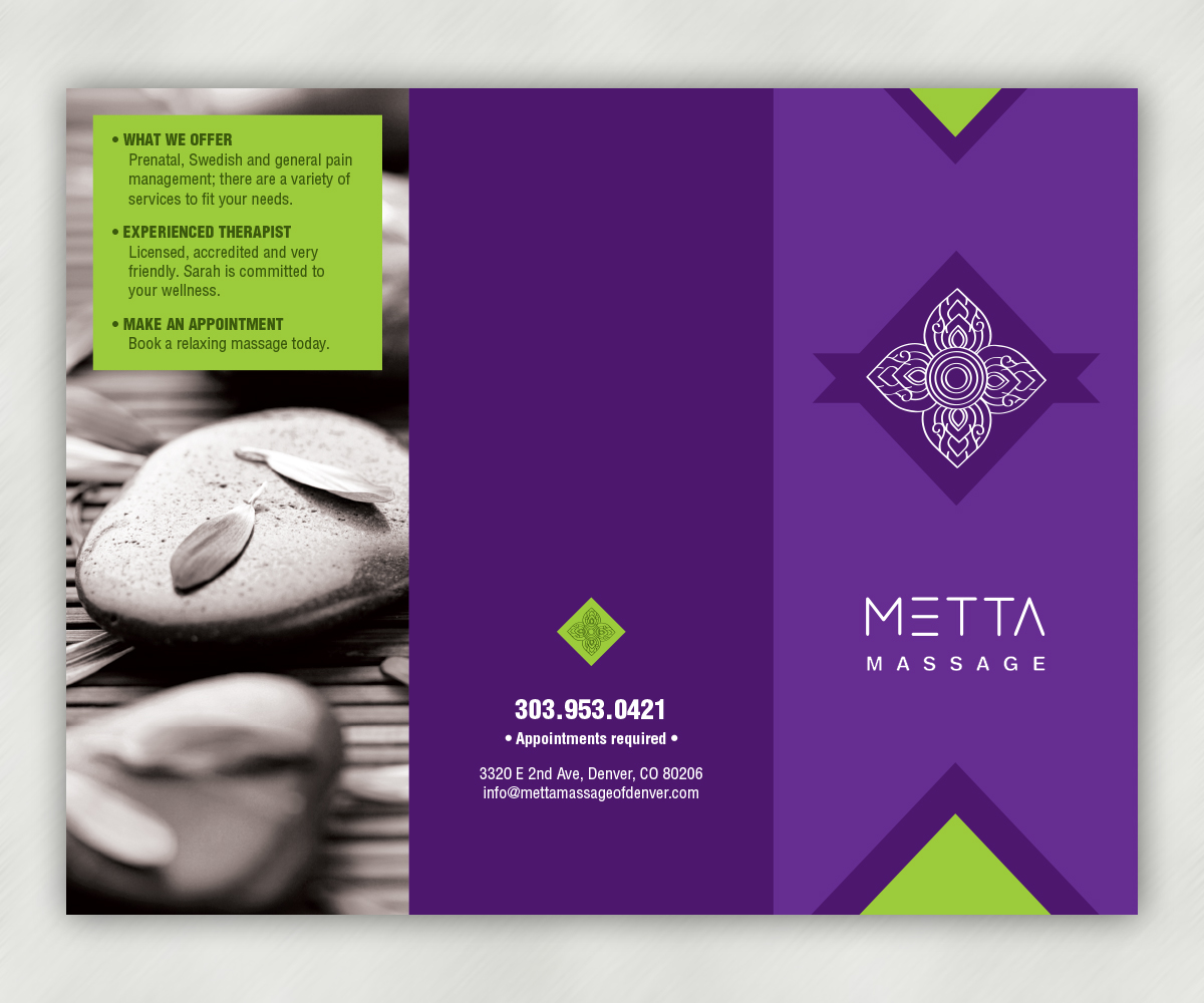 Brochure Design By Luis Lucchesi For Local Massage Therapist Needs Some New  Marketing Material   Design
