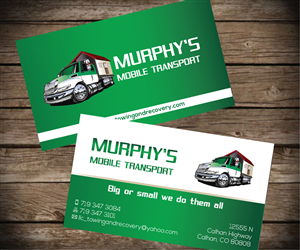 Business Card Design by Aaron - Murphy's Mobile Transport