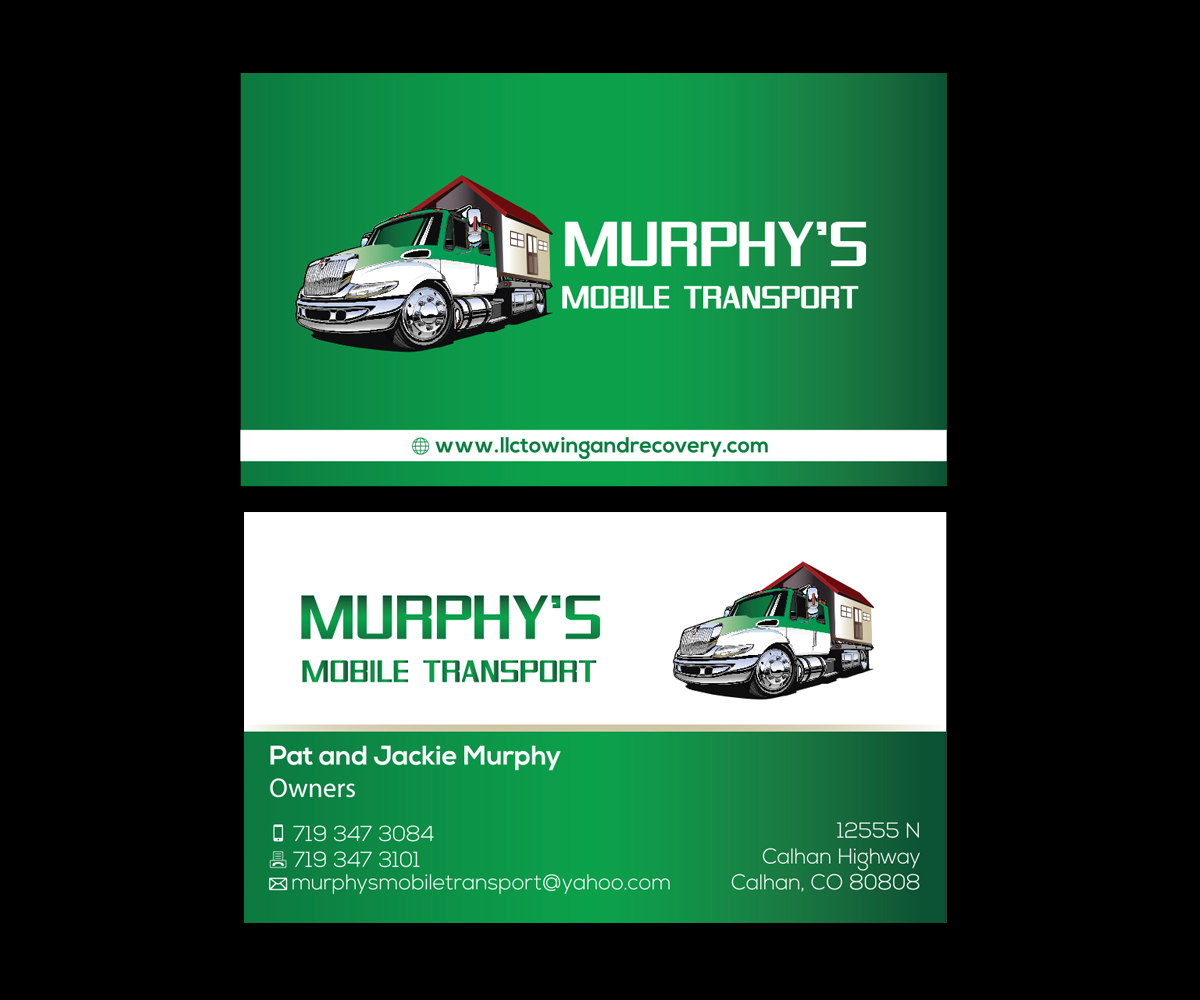 transportation business cards