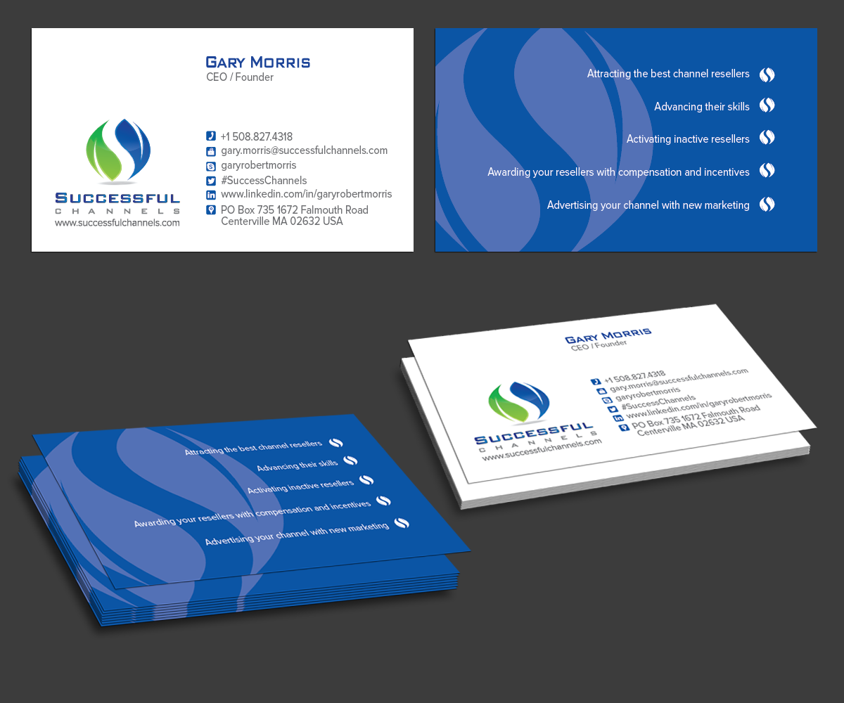 Serious modern advertising business card design for a company by business card design by kousik for this project design 3500097 colourmoves