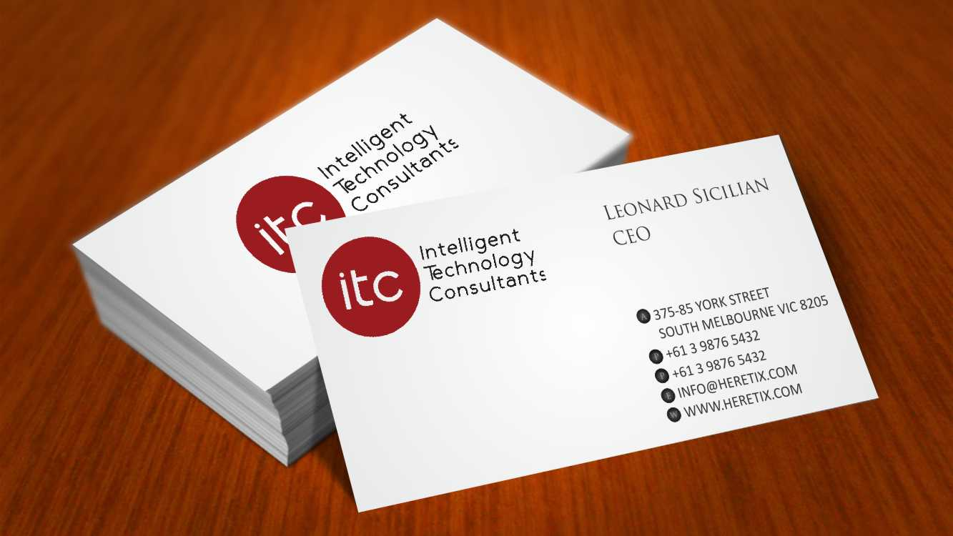 Bold modern business card design for itc intelligent technology business card design by awsomed for itc intelligent technology consultants llc business cards magicingreecefo Gallery
