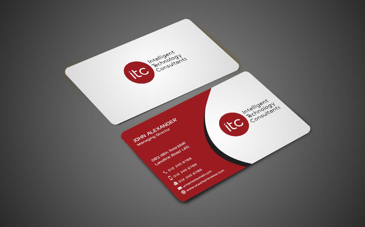 Bold, Modern Business Card Design for ITC-Intelligent Technology ...