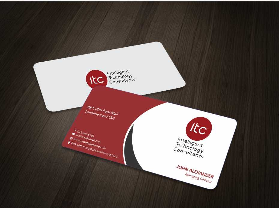 Bold modern business business card design for itc intelligent business card design by zarnab for itc intelligent technology consultants design 3496540 colourmoves