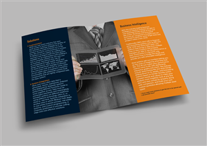 Brochure Design by lookedaeng - Consulting services and software brochure