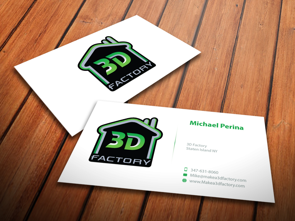 Modern playful printing business card design for 3dfactory llc by business card design by mediaproductionart for 3dfactory llc design 3495222 reheart Choice Image