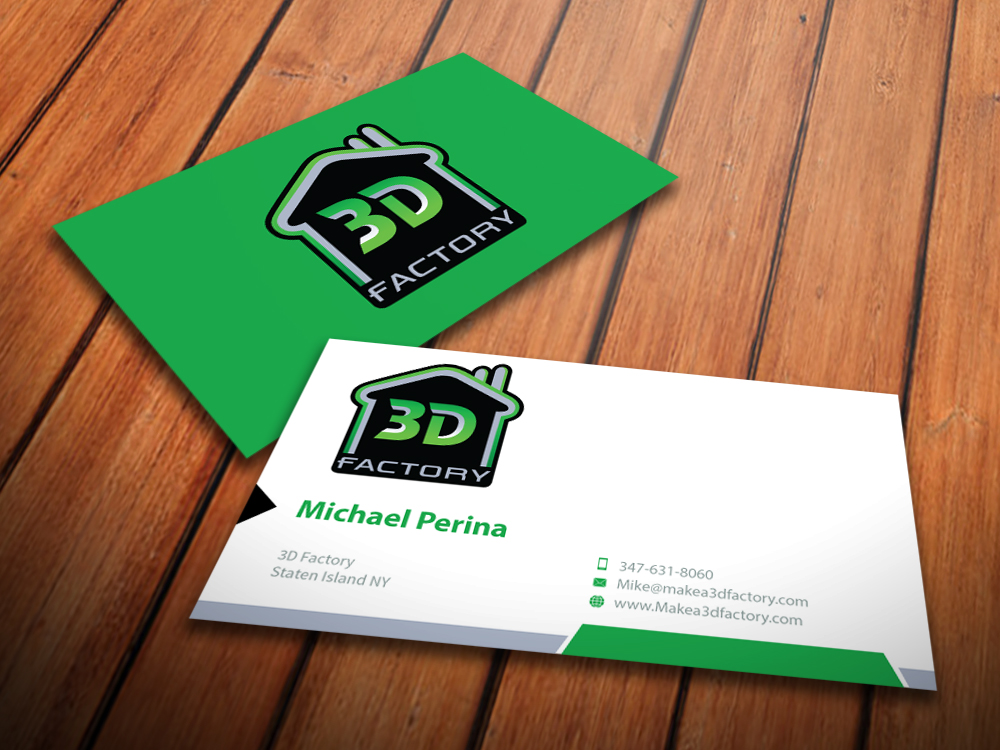 Modern playful printing business card design for 3dfactory llc by business card design by mediaproductionart for 3dfactory llc design 3495268 reheart Choice Image