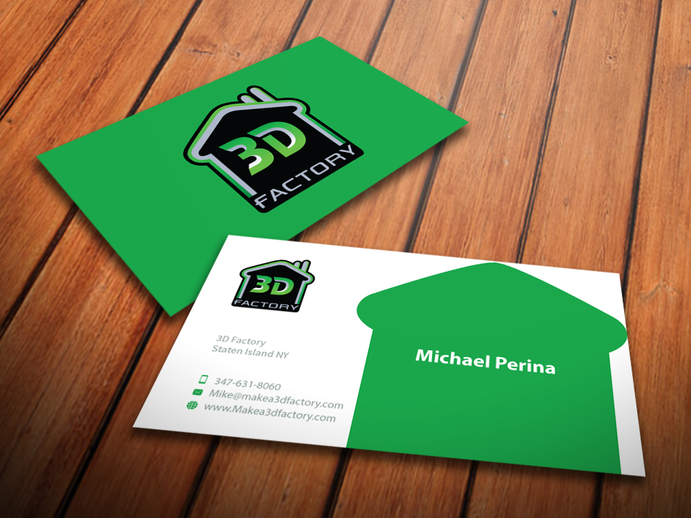 Modern playful printing business card design for 3dfactory llc by business card design by mediaproductionart for 3dfactory llc design 3495559 reheart Choice Image