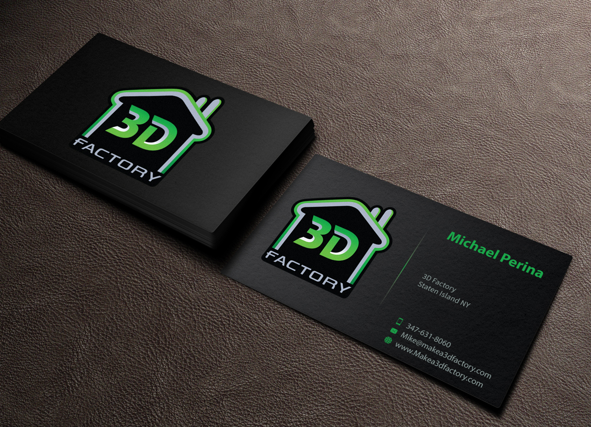 Modern playful printing business card design for 3dfactory llc by business card design by mediaproductionart for 3dfactory llc design 3495675 reheart Choice Image