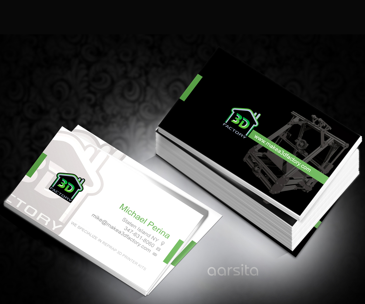 Modern playful printing business card design for 3dfactory llc by business card design by aarsita for 3dfactory llc design 3501391 reheart Choice Image