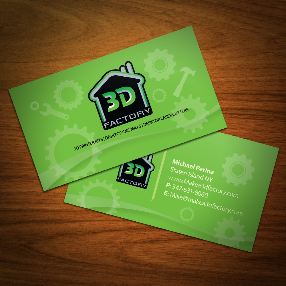 Modern playful printing business card design for 3dfactory llc by business card design by graphicsbox for 3dfactory llc design 3505480 reheart Choice Image